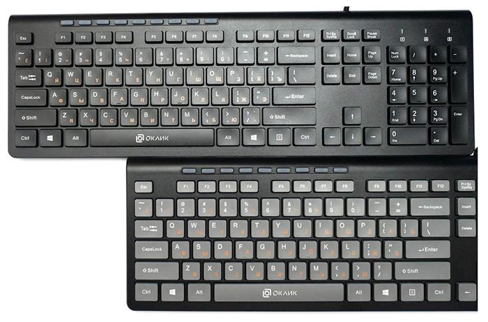 Клавиатуры OKLICK 480M и 490ML