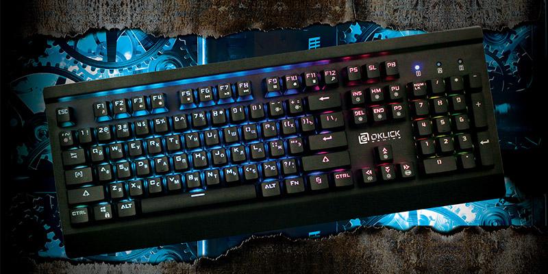 Механическая компьютерная клавиатура Oklick 950G IRON EDGE